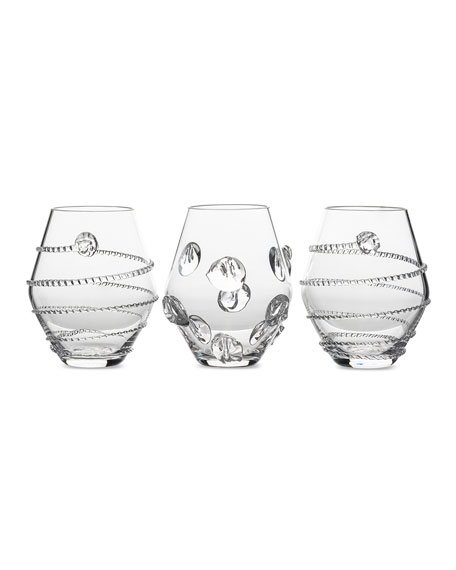 Assorted Clear Mini Vases, Set of 3