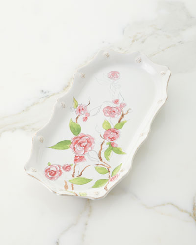 Berry & Thread Floral Sketch Hostess Tray