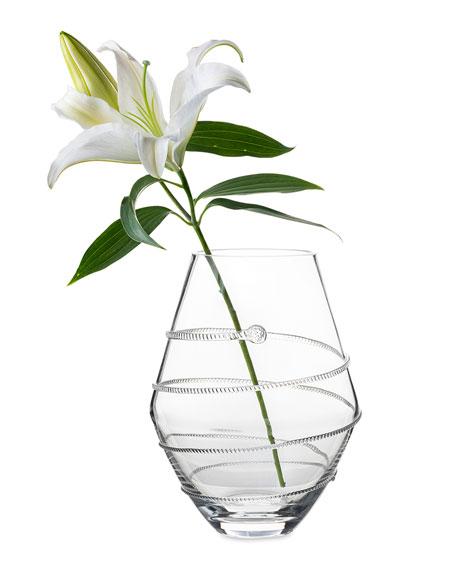"""11"""" Clear Amalia Vase"""