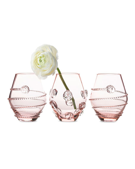 Assorted Pink Mini Vases, Set of 3