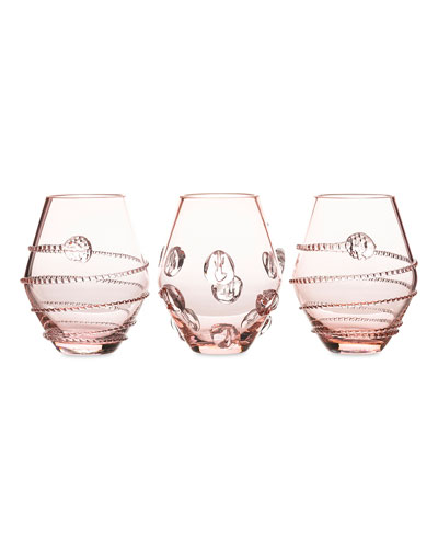 Assorted Pink Mini Vases  Set of 3