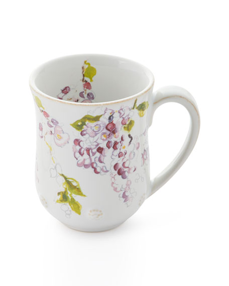 Juliska Berry & Thread Floral Sketch Wysteria Mug