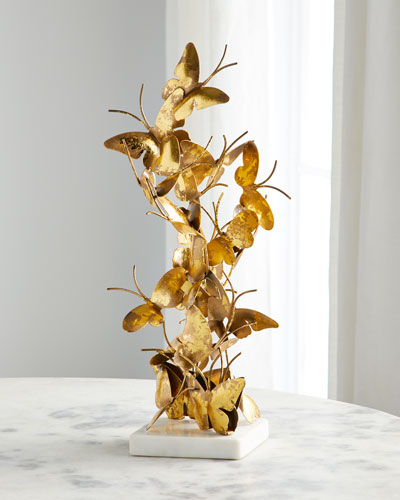 Gold Foil Butterfly Sculpture