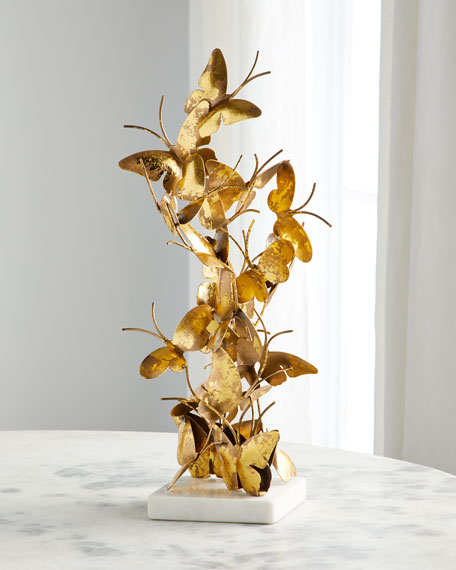 Jamie Young Gold Foil Butterfly Sculpture