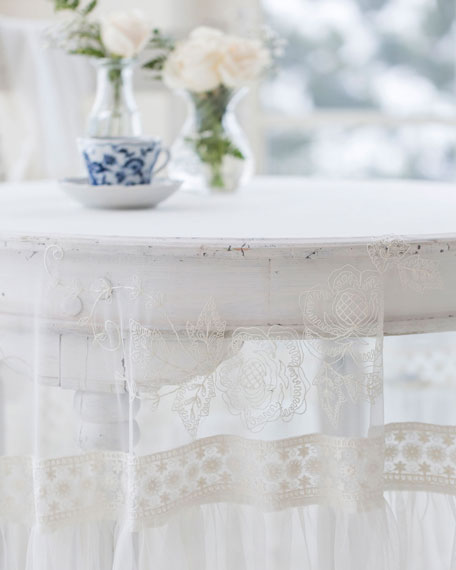 Angelic Embroidered Round Tablecloth