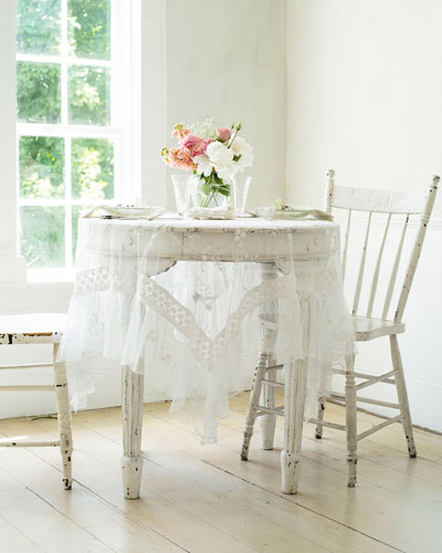 Beloved Embroidered Breakfast Tablecloth