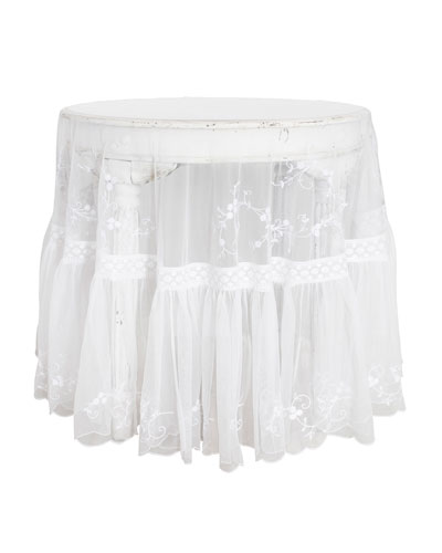 Beloved Embroidered Round Tablecloth