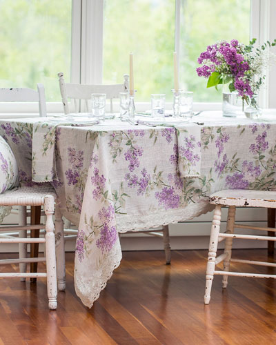 Lilah Linen Dining Tablecloth