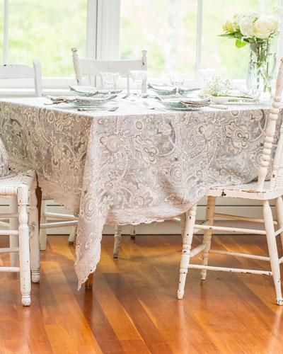Queen's Court Linen Dining Tablecloth