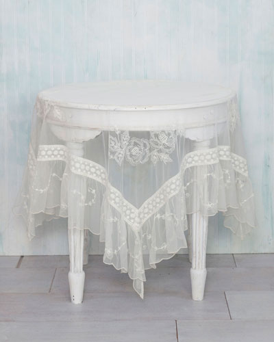 Angelic Embroidered Dining Tablecloth