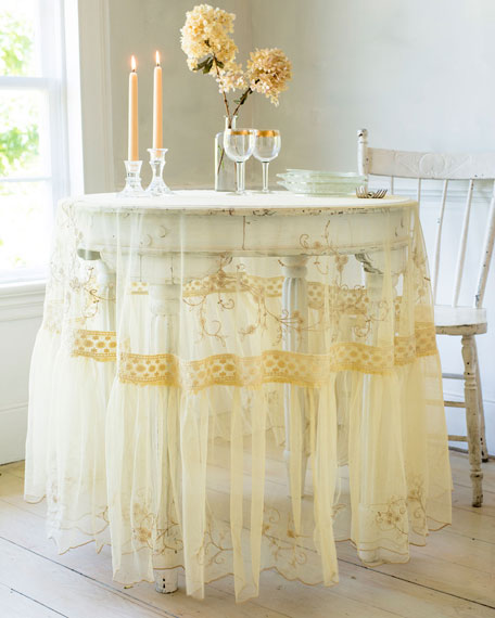 April Cornell Beloved Embroidered Breakfast Tablecloth