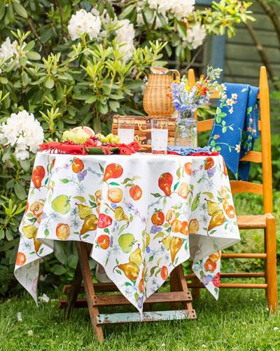Fresh Fruit Watercolor Breakfast Tablecloth