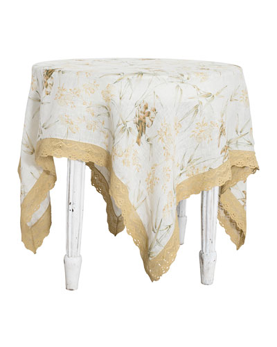Bamboo Garden Linen Breakfast Tablecloth