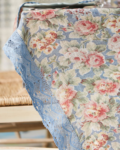 Cotillion Linen Breakfast Tablecloth