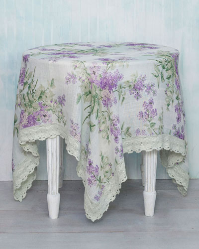 Lilah Linen Breakfast Tablecloth
