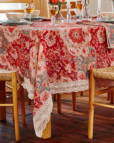 Magic Carpet Linen Breakfast Tablecloth