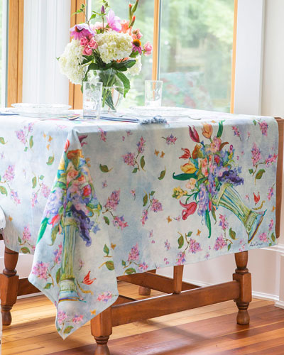 Spring Romance Felted Dining Tablecloth