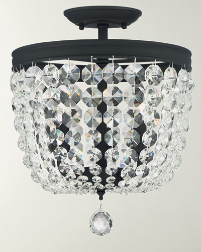 Archer 3-Light Crystal Black Pendant