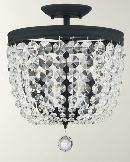 Archer 3-Light Crystal Black Pendant