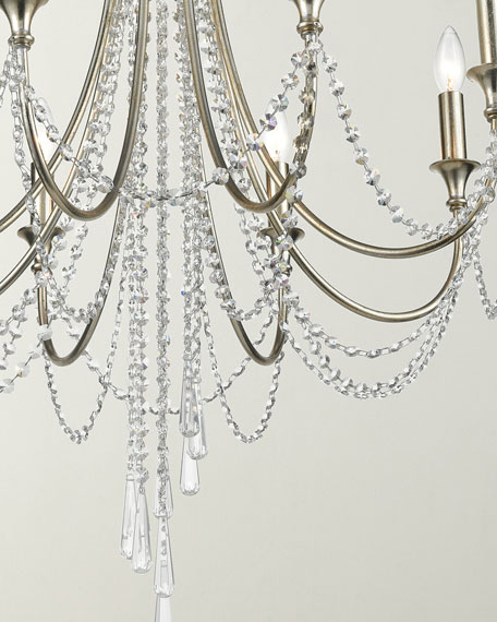 Arcadia 8-Light Antique Silver Chandelier