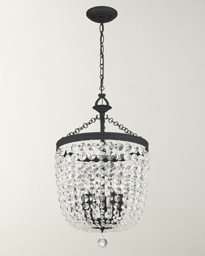 Archer 5-Light Crystal Black Chandelier