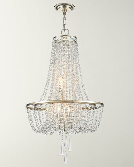 Arcadia 4-Light Antique Silver Chandelier