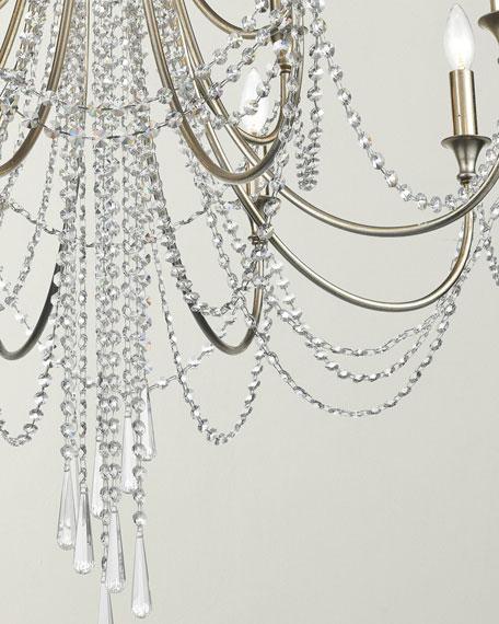 Arcadia 12-Light Antique Silver Chandelier