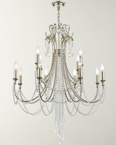 Arcadia 12-Light Antique Silver Chandelier