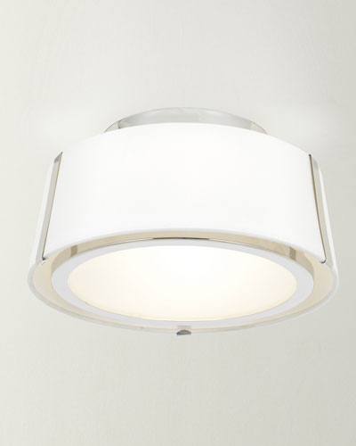 Fulton 2-Light Polished Nickel Ceiling Mount Light