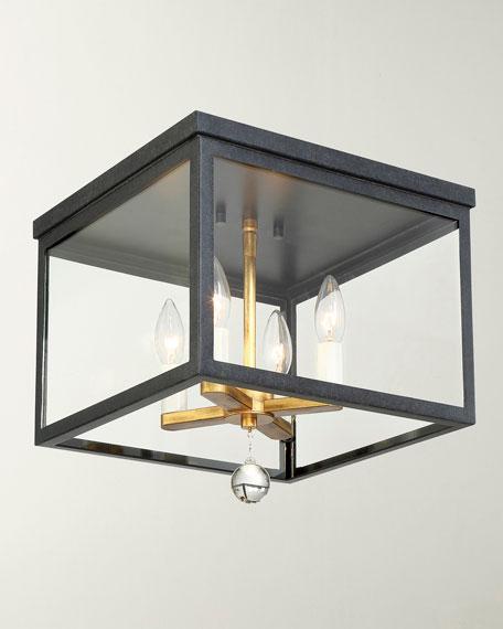 Crystorama Weston 4-Light Black & Antique Gold Ceiling
