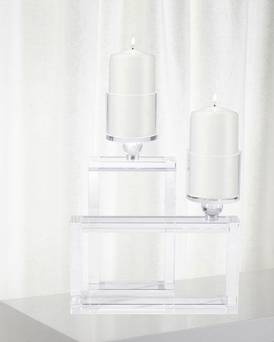 Cubic Candle Holders  Set of 2
