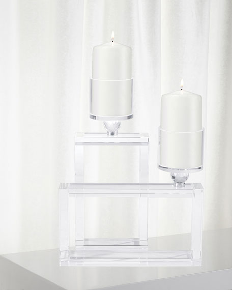 Cubic Candle Holders, Set of 2