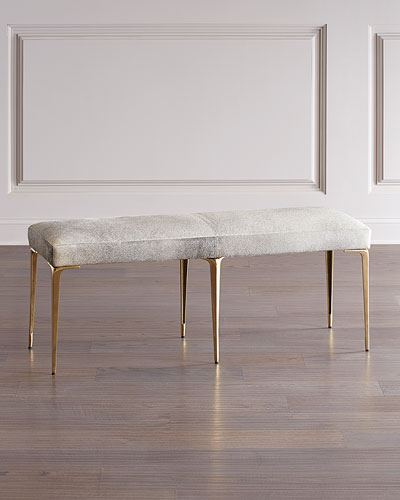Stiletto Hairhide Brass Bench