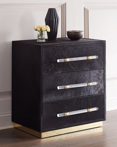 Cassian Hairhide 3-Drawer Chest