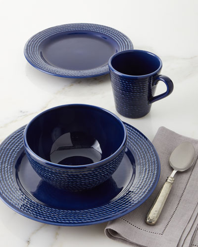 16-Piece Cobalt Rope Dinnerware Set