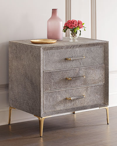 Jaxon Hairhide Bedside Chest