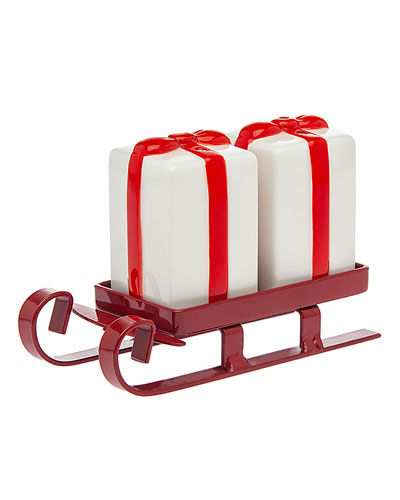 Sleigh Salt & Pepper Shakers