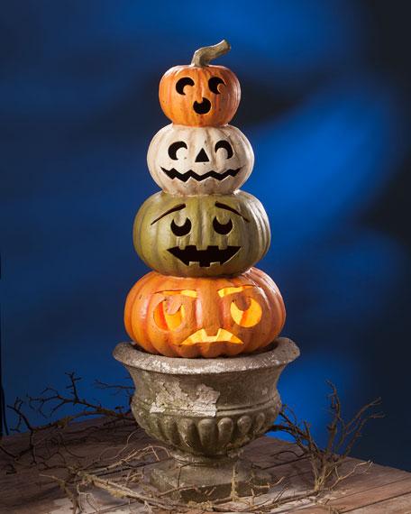 Jack-O-Lantern Topiary Halloween Decoration