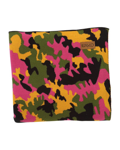 Camo Pink Cotton Baby Blanket