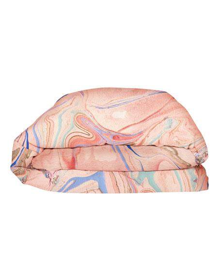 Kip&Co Marble Magic Linen Duvet Cover - Queen