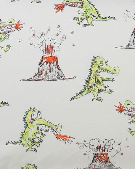 Kids' Dino Roar Fitted Sheet - Twin