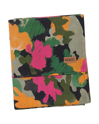 Kids' Camo Pink Flat Sheet - Twin