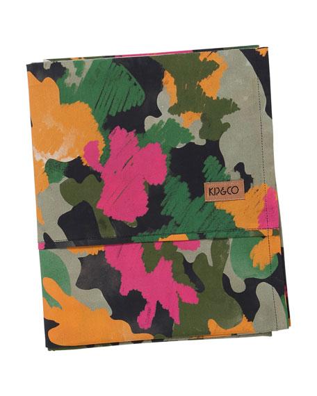 Kip&Co Kids' Camo Pink Flat Sheet - Twin