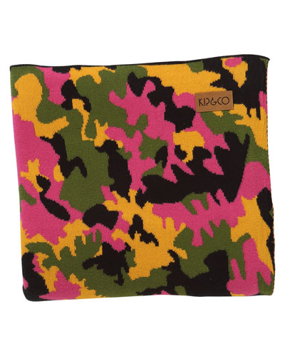 Camo Pink Cotton Blanket - Large
