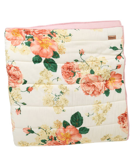 Bed Of Roses Quilted Bedspread Comforter - King