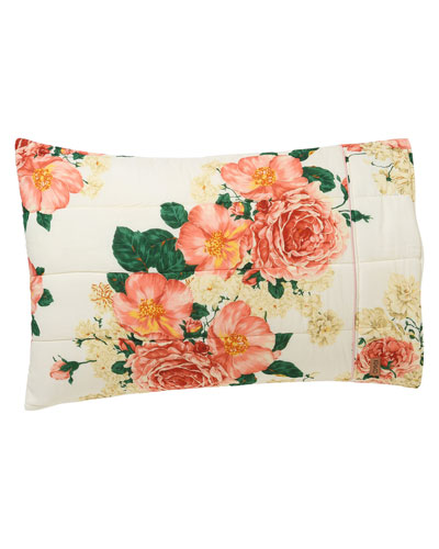 Bed Of Roses Quilted Pillowcase Set - Standard