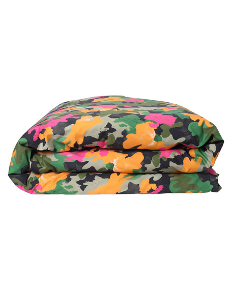 Kip&Co Kids' Camo Pink Cotton Duvet Cover -