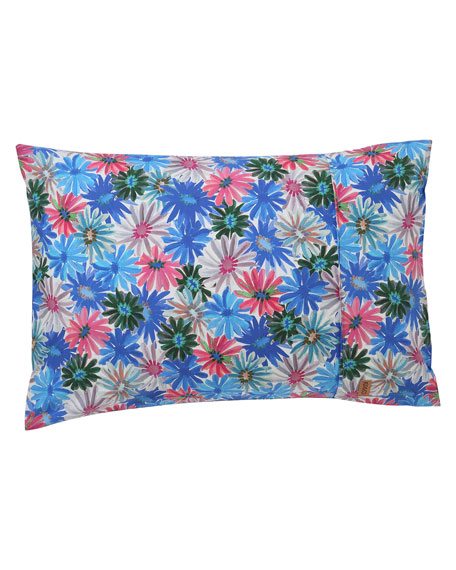 Kids' Petal Power Blue Cotton Pillowcase - Standard, Each
