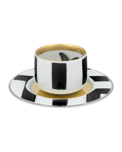Sol Y Sombra Espresso/Coffee Cups & Saucers  Set of 4