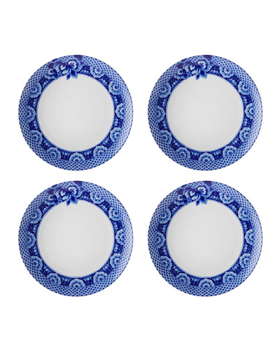 Blue Ming Dinner Plates  Set of Four